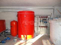 Теплоаккумулятор КЗОТ ARS 1000 W (с утеплением и змеевиком под солнечные коллектора). Фото 3