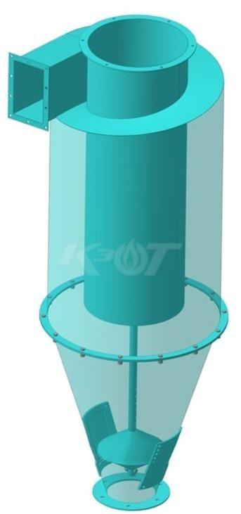 Система очистки дымовых газов КЗОТ Циклон-утилизатор МЦ-У 600 (500-700 кВт). Фото 2